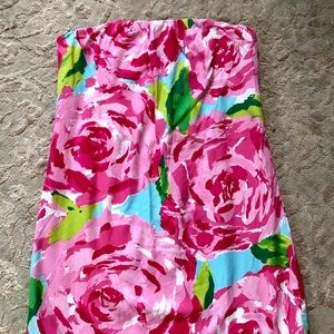EUC Strapless First Impression Lilly Pulitzer